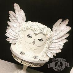 Harry Potter Hedwig buttercream cake