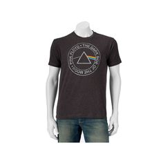 Men's Pink Floyd Dark Side Logo Band Tee, Size: Medium, Grey (Charcoal)