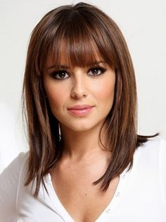 Bangs mid length, hair colors, medium length hairstyles, cheryl cole, beauti, bangs, hair style, haircut, medium hairstyles