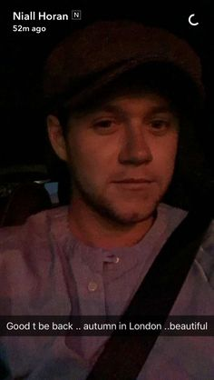 Niall on snapchat (10/4)