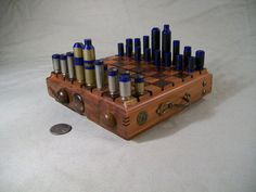 Mini  BULLET SHELL  Steampunk Chess Set 6 by OldeWorldCC on Etsy