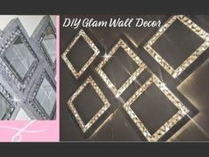 Super Glam Wall Decor with Lights | DIY Dollar Tree Home Decor | Wall light | Glam Mirror | Sconce - YouTube