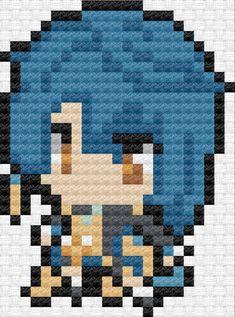 Pixel Pattern, Pattern Art, Hama Beads Patterns, Beading Patterns, Beaded Cross Stitch, Cross Stitch Patterns, Hama Art, Pixel Art Grid, Anime Pixel Art