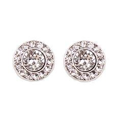 Crystal Stud Earrings   Anne Koplik Designs