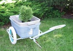 This garden cart is made from old bike parts which have been repurposed.  It's a great example of how recycling can prevent things from going to landfill and help reduce the demand for new materials and unnecessary consumption.  Reuse also reduces the demand for energy both on the consumption side and waste disposal side of the equation.