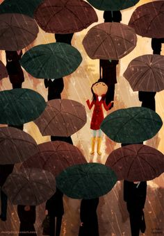 City in the rain. #everyday #loveart #illustration
