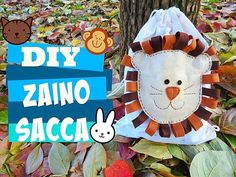 🎥YOUTUBE🎥🚨NEW VIDEO🚨 zaino sacca asilo feltro,drawstring backpack baby diy tutorial lion felt for baby cucito stoffa