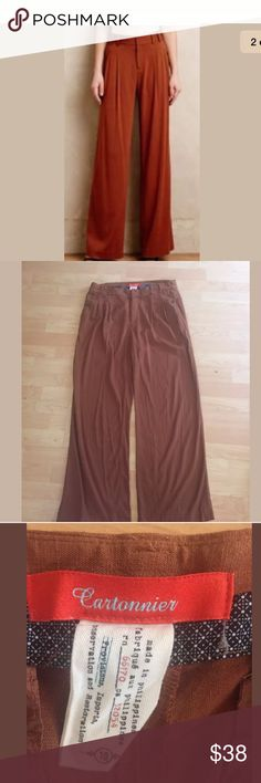 """Cartonnier Anthropologie Wide Leg Pants Size 10 Cartonnier Anthropolgie pants  Size 10  Wide leg  Waist 34""""  Inseam 34""""  Rayon spandex  No rips or stains Anthropologie Pants Wide Leg"""