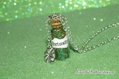Fortuosity Necklace with a 4 Leaf Clover Charm by LifeistheBubbles, $16.00