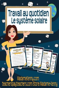 Our latest science themed product is titled Travail au quotidien Le système solaire. This product could be the perfect addition to your space unit. For more information about our latest product please click...   https://www.teacherspayteachers.com/Product/Travail-au-quotidien-Le-systeme-solaire-2443342