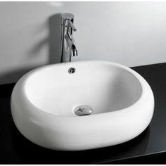 Washbasin OVEO ceramic white | Leroy Merlin - 52 x 42 x 14.5 - 129 ...