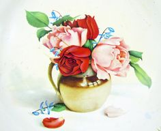 Metal Roses Tray Vintage Made in England by by RichardsRarityRealm, $20.00