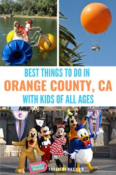 There are so many fun things to do in Orange County with kids, from Disneyland and Knott's Berry Farm to the Irvine Regional Park and a free hot air balloon ride! Whether you're looking for a Southern California vacation spot or you want to add some extra activities to your Disneyland trip, you'll definitely want to explore these 11 things to do in Orange County. #california #travelwithkids #familytravel California Destinations, California Vacation, Family Vacation Destinations, Travel Destinations, Disneyland Trip, Disney Trips, Travel Toys, Travel Usa, Travel With Kids