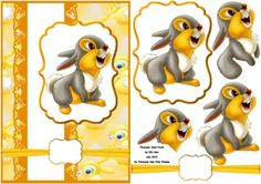 Thumper from Bambi decoupage Free Printable Christmas Cards, Printable Box, Image 3d, Decoupage Printables, 3d Sheets, Disney Cards, Disney Images, 3d Cards, 3d Prints