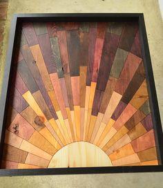 wooden wall art  Second Avenue Sunrise  wood von StainsAndGrains