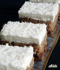 Mamina jela: Kolač od kokosa i Milka čokolade Greek Sweets, Greek Desserts, Greek Recipes, Cake Cookies, Cupcake Cakes, Baking Recipes, Cake Recipes, Greek Cake, Coconut Candy