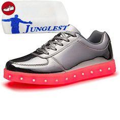 (Present:kleines Handtuch)Lackleder High Top Schwarz EU 40, Größe Aufladen Weiß Leuchtend 7 Herren USB Turnschuhe Damen Sneaker Schuhe Top 43 Unisex-Erwachsene mode Farbe Sportschuhe L