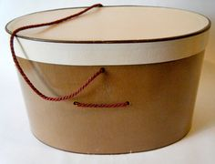 Chocolate and Pink 1960s Oval Hat Box with by KaiserVonVintage, $19.00