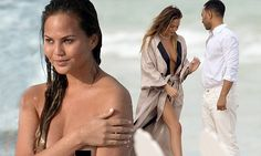 EXCLUSIVE: Chrissy Teigen strips off for beach shoot with John Legend John Legend, Crissy Tiegen, Beach Shoot, Models, Florida Beaches, His Eyes, The Incredibles, Photoshoot, Lingerie