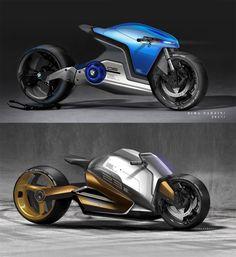Daily Sketch: Electric Superbike Concept by Nima Farzin gallery: Nima Farzin's work: https://www.behance.net/gallery/42015037/Electric-superbike