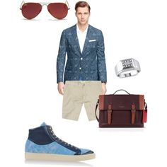 Bizness by kdong99 on Polyvore featuring polyvore, fashion, style, Ice, Ray-Ban, Brooks Brothers, The Generic Man and Ted Baker