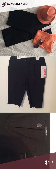 """Black Bermuda Shorts Beautiful, brand new """"Skimmer"""" shorts.  These are wonderful quality and really super cute length. Style&co. Shorts Bermudas"""