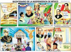 Lamina escolar - Bicentenario de la Independencia de México