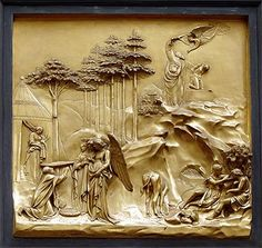 St John Baptistery in Florence by Lorenzo Ghiberti Lorenzo Ghiberti, Sculpture Clay, Sculptures, Florence Baptistery, Story Of Abraham, Renaissance Kunst, Art Chinois, Border Embroidery Designs, Art Japonais