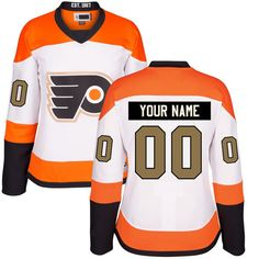 Women's Custom Philadelphia Flyers White Premier Third Customized Ice Hockey Jersey Size 2XL. Material: 100% Polyester,Machine wash. Jerseys as the picture shows, Custom Ordering Info: the Name and/or Number you'd like on the back of your shirt (Max 12 Characters). the processing time is about 5 days to prepare your order.shipping time is 7-15 days. Personalized name and number in single-layer, printed twill are heat-pressed onto the back and sleeves. Customized items are final sale and...