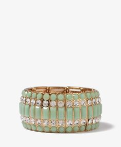 Colored Rhinestone Bracelet