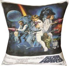 New designer star wars retro theme movie film cushion cover Funky Cushions, Front Rooms, Movie Film, News Design, Room Ideas, Star Wars, Crafty, Stars, Retro