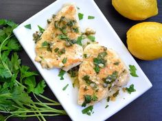 Chicken piccata is a succulent chicken dish with salty capers, tangy lemon juice, and creamy butter.