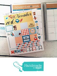 NOVEMBER 2016 Planner Stickers - Monthly Headers - Planner Sticker Bundle - NOVEMBER FALL Collection, Erin Condren Stickers, Life Planner Stickers, Planner Accessory from Confetti Paperie https://www.amazon.com/dp/B01MA512C1/ref=hnd_sw_r_pi_dp_2znbyb18V3ZYN #handmadeatamazon