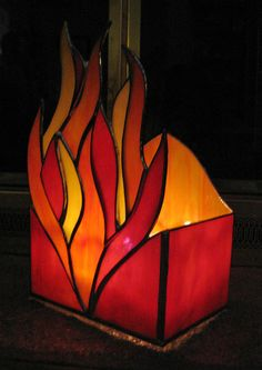 Candle Holder Stained Glass Votive by StainedGlassYourWay