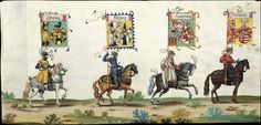 Albrecht Altdorfer (c. 1480 -1538), Hans Burgkmair (1473-1531), Albrecht Dürer (1471-1528) & others — Triumphal Procession, 1517 (1440x695)