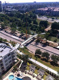 Bridge over Memorial Dr. East of Studemont, Memorial Heights, Houston
