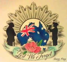 Lest We Forget April 25th - ANZAC DAY