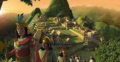 A caravan of Inca nobles at Machu Picchu by Matthieu Roussel Fantasy Words, Fantasy Art, Game Level Design, Aztec Culture, Inca Tattoo, Peru Travel, Machu Picchu, Photo Illustration, Illustrations