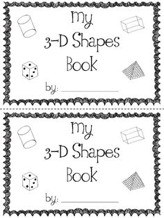 cool little book for kids to make about geometry...