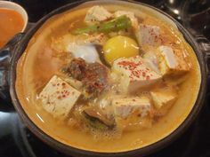 (Sundubu-Jjigae) Korean soft tofu stew is so incredibly simple, but super hearty, nourishing and delicious!So perfect to get your body in gear for the cooler weather to come!
