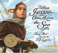 n an inspiring pairing, Amy Hest and P.J. Lynch create an unforgettable tribute to the immigrant experience.  Jessie lives with her grandmother in a poor village in the valleys of eastern Europe. When, to everyone's surprise, young Jessie is chosen by the village rabbi to travel to America, and to leave her grandmother behind, they both feel their hearts will break.