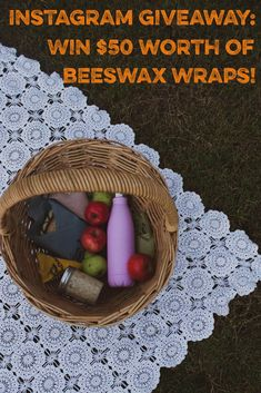 Go and join our Instagram #competition and win $50 worth of #beeswaxwraps! #giveaway