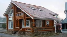 Minimalist wooden house - Today many wooden houses are occupied by people because of the uniqueness of the model house. This wooden house . Building A Wooden House, Wooden House Design, Style At Home, Log Cabin Homes, Log Cabins, Cool Landscapes, Classic House, House Goals, Model Homes