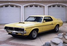the Mercury Cougar was restyled in 1969. The result? The Eliminator. Stripes and spoilers promised the power that the 428-cid Cobra Jet engine was sure to deliver.