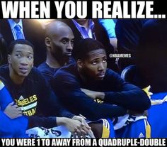 Kobe Bryant ALMOST had a quadruple-double last night against the Denver Nuggets! - http://nbafunnymeme.com/nba-memes/kobe-bryant-almost-had-a-quadruple-double-last-night-against-the-denver-nuggets