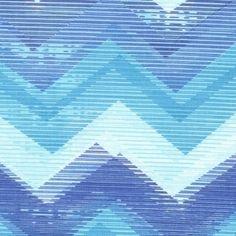 Dear Stella House Designer - Lanikai - Chevrohn in Teal 1 inch stripe  hawthornethreads.com