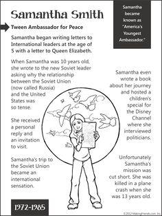 Samantha Smith-- Tween Ambassador for Peace