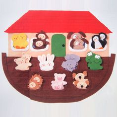 vintage NOAHS ARK & TOADSTOOL house sewing patterns (wall hanging and finger puppets) (90s). $7.00, via Etsy.