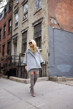 Cape: DKNY (also love this cape and this grey jacket). Sweater Dress: Zara (old, similar here). Boots: Stuart Weitzman (flat version here). Lips: Stila 'Beso'. Sunglasses: Prada. Watch: Michele. Thank you to Nordstrom for partnering...Read More
