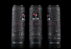 Limited Edition Commemorative Super Bowl Pepsi Can on Packaging of the World - Creative Package Design Gallery